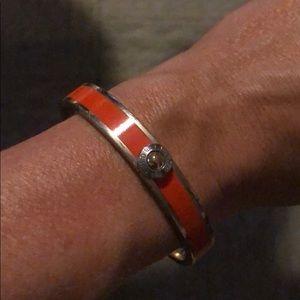 Henri Bendel Orange and Silver Bracelet
